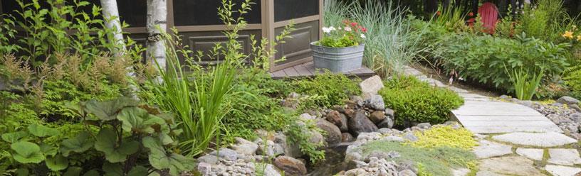 Am nagement paysager cologique laurentides jardins for Amenagement paysager sans entretien
