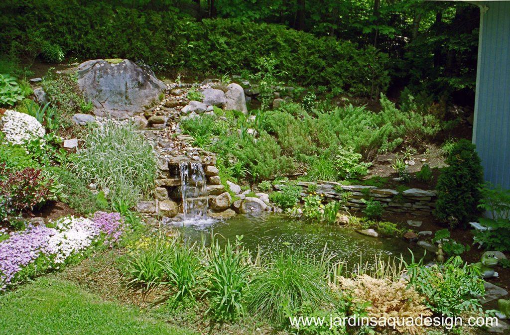 Jardins Aquadesign bassin avec ecumoire