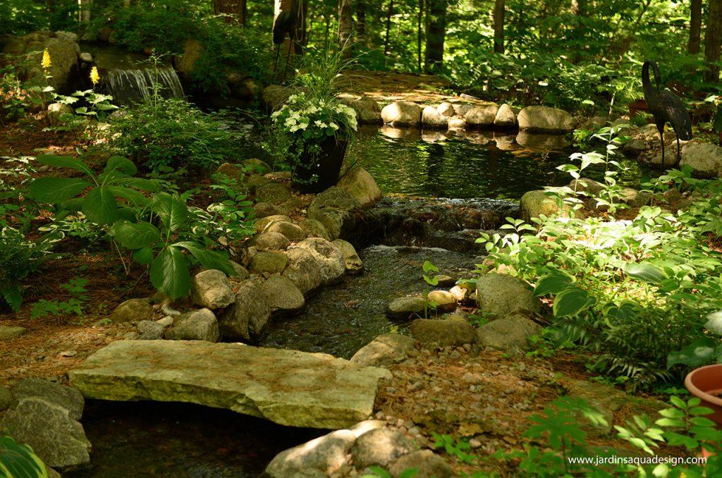 Jardins Aquadesign cascade sous bois